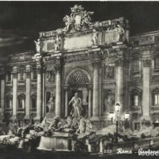 Postales: POSTAL ITALIA. ROMA. FONTANA DI TREVI. 222. 10X15 CM. 1955.. Lote 175665413