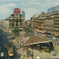 Postales: BÉLGICA. BELGIE. BELGIQUE. BRUXELLES. BRUSSELS. LA PLACE DE BROUCKERE. 10X15 CM. 1974. BRUSELAS.. Lote 175770097