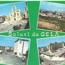 Postales: ITALIA. GELA. SICILIA. AÑOS 70. BUEN ESTADO. 10X15 CM. . Lote 175788095