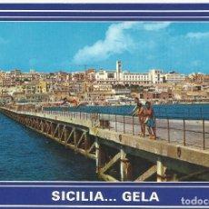 Postales: ITALIA. GELA. SICILIA. PONTILE PANORAMA. AÑOS 70. BUEN ESTADO. 10X15 CM. . Lote 175788195