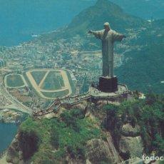Postales: BRASIL. CRISTO REDENTOR. BUEN ESTADO. 1975. 10X15 CM. CON SELLOS. EDICARD. RÍO DE JANEIRO.. Lote 175838367