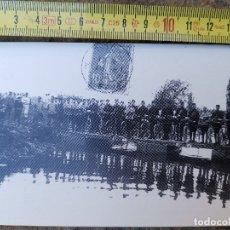 Postales: REPRODUCCIÓN DE POSTAL FRANCESA CICLISTAS MILITARES, LORRAINE 1896. Lote 176118643