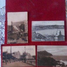Postales: AB-567.- LOTE DE -- 6 -- POSTALES DE-- SAN SEBASTIAN-- DIVERSOS LUGARES DE LA CIUDAD, VER FOTOS . Lote 176275383