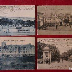 Postales: AB-568.- LOTE DE 4 POSTALES DE VARIAS CIUDADES DE ESPAÑA, LEON ,SANTIAGO , SANTANDER , VER FOTOS . Lote 176275679