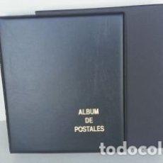 Cartes Postales: ALBUM BBB* PARA POSTALES 27X33CM. 4 ANILLAS. NEGRO.STANDARD. CON CAJETÍN.. Lote 222690485
