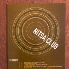 Cartes Postales: NITSA CLUB (BARCELONA AÑOS 90). TARJETA FLYER PROGRAMACIÓN SESIONES FEBRERO. 10,5 X 15 CMS.. Lote 176705227