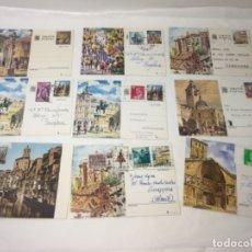 Postales: LOTE DE 9 POSTALES VARIADAS CON SELLO Y MATASELLOS ENTRA TODO.. Lote 177264408
