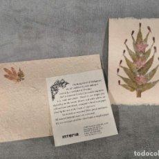 Postales: POSTAL INTERIA- CON MATERIALES REICLADOS O DE LA NATURALEZA. Lote 177267752