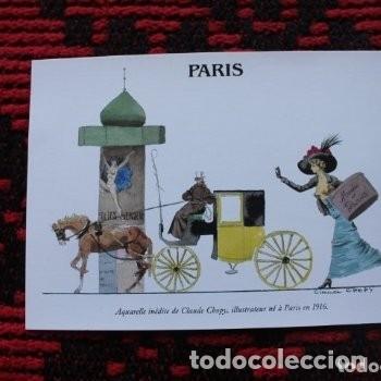 ACUARELA INÉDITA CLAUDE CHOPY, ILUSTRADOR HACE PARIS 1916 (Postales - Varios)