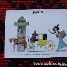 Postales: ACUARELA INÉDITA CLAUDE CHOPY, ILUSTRADOR HACE PARIS 1916. Lote 177276659