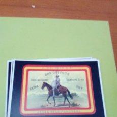 Postales: POSTAL REPRODUCCION ETIQUETA JEREZ. SERIE PERSONAJES Nº 59. DON QUIJOTE.. Lote 177375912