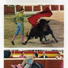 Postales: 2 POSTALES TAUROMAQUIA. CURRO ROMERO Y MONDEÑO. FOTOS CARRETERO. AGN FÁBREGAS 1968. SIN CIRCULAR.. Lote 177687034