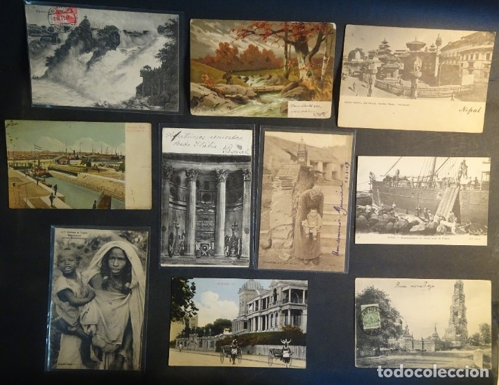 LOTE DE 10 POSTALES CPA ANTIGUAS VARIOS PAISES, CASI TODAS CIRCULADAS, VER FOTOS (Postales - Varios)
