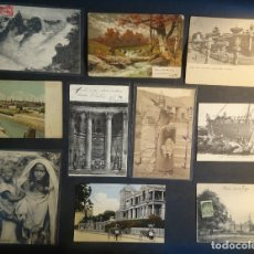 Postales: LOTE DE 10 POSTALES CPA ANTIGUAS VARIOS PAISES, CASI TODAS CIRCULADAS, VER FOTOS. Lote 178399892