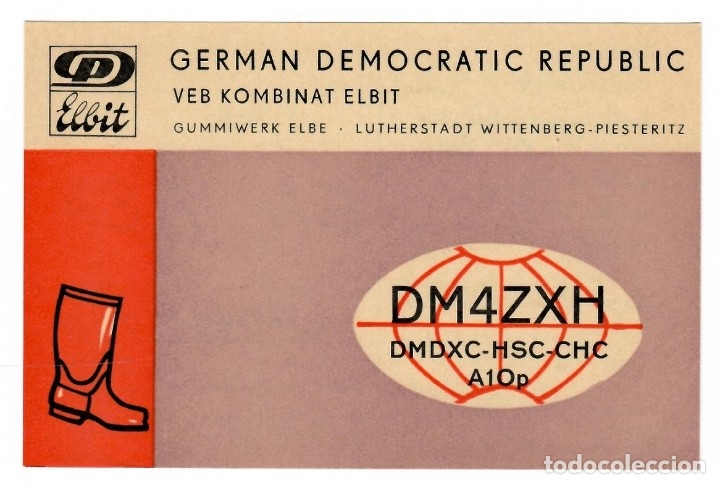 QSL / GERMAN DEMOCRATIC REPUBLIC 1974 - VEB KOMBINAT ELBIT (Postales - Varios)