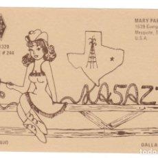 Postales: TARJETA RADIOAFICIONADOS - QSL / DALLAS COUNTY - 1979. Lote 178593415