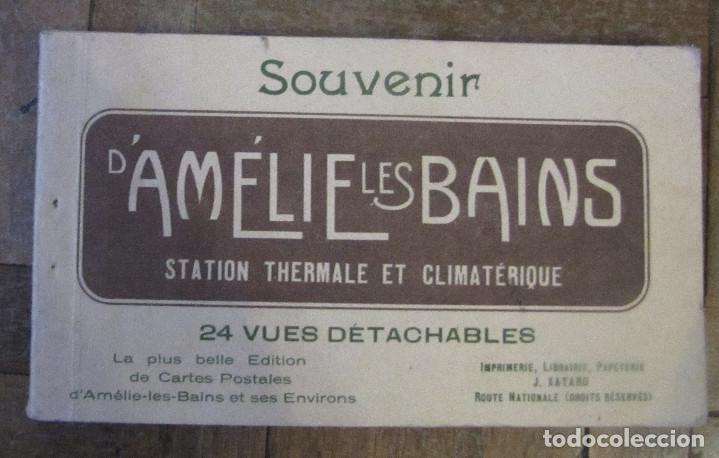SOUVENIR DE AMÉLIE LES BAINS. LIBRITO DE 24 VUES DETACHABLES 8,5 X 14,5 CM C.U. (Postales - Varios)