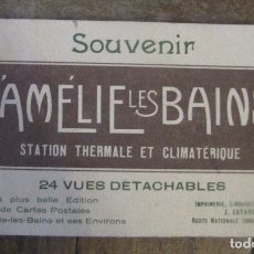 Postales: SOUVENIR DE AMÉLIE LES BAINS. LIBRITO DE 24 VUES DETACHABLES 8,5 X 14,5 CM C.U.. Lote 178612925