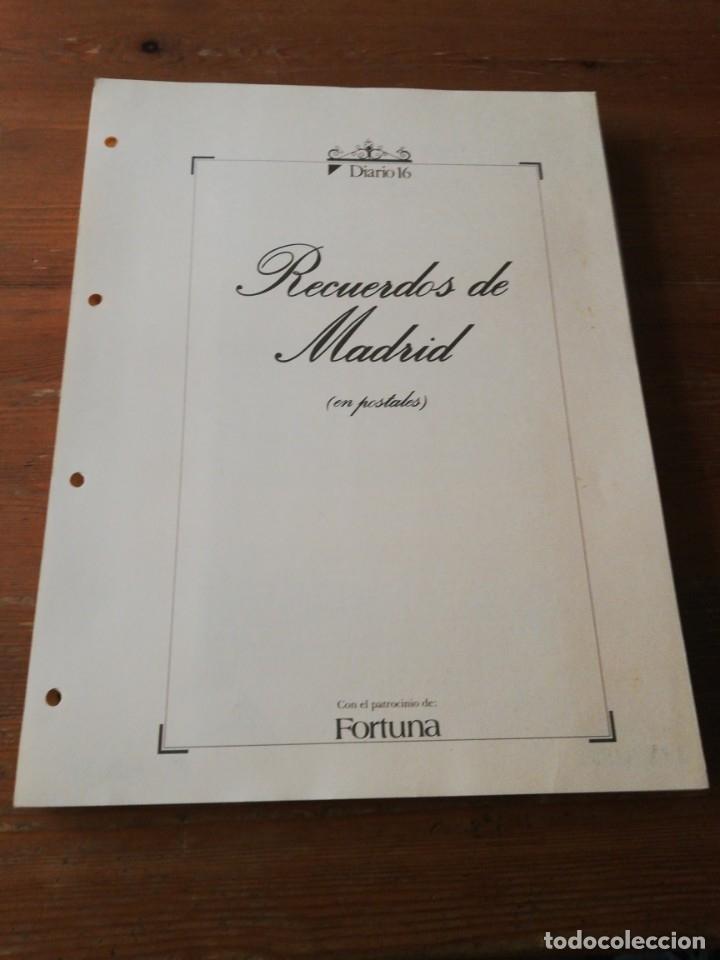 COLECCIÓN DE POSTALES. RECUERDOS DE MADRID. INCOMPLETA. FALTAN 2. (Postales - Varios)
