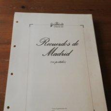 Postales: COLECCIÓN DE POSTALES. RECUERDOS DE MADRID. INCOMPLETA. FALTAN 2.. Lote 178650655