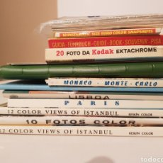 Postales: LOTE 12 LIBRITO DE POSTALES VINTAGE(MADRID, PARIS, LISBOA,MONACO, SALAMANCA,ESTAMBUL,ETC.( SALIDA 1€. Lote 178896321
