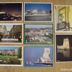 Postales: LOTE 8 POSTALES. LISBOA. PORTUGAL. BELEM. JERÓNIMOS. DESCUBRIMIENTO. BUEN ESTADO. 10X15 CM. AÑOS 90.. Lote 179253950