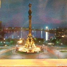 Postales: BARCELONA. MONUMENTO A CRISTÓBAL COLÓN Y PUERTO. NUEVA. Lote 179405222