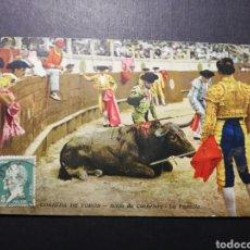 Postales: POSTAL TOROS LA PUNTILLA 1925. Lote 181102891