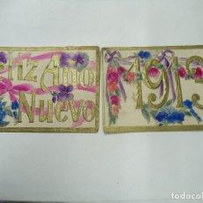 Postales: 1913 PAREJA POSTALES ORIGINALES DE 1913 EN RELIEVE CON BELLOS COLORES BASTANTE BIEN CONSERVADAS . Lote 181129855