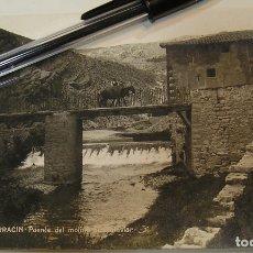 Cartoline: ANTIGUA TARJETA POSTAL TERUEL PUENTE DEL MOLINO APORTO FOTOS DE TODAS LAS POSTALES (19). Lote 181224570