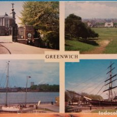Cartoline: GREENWICH. FLAMSTEED HOUSE. GIPSY MOTH IV. NATIONAL MARITIME MUSEUM. THE CUTTY SARK. NUEVA. Lote 181571733