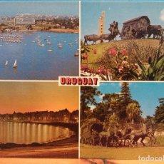 Cartoline: MONTEVIDEO, URUGUAY. PUERTO BUCEO, MONUMENTO LA CARRETA, PLAYA POCITOS, MONUMENTO LA DILIGENCIAUSADA. Lote 181586057