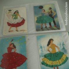 Postales: 4 POSTALES TRAJES TIPICOS. Lote 182053366