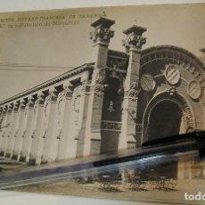 Postales: ANTIGUA TARJETA POSTAL EXPOSICION HISPANO FRANCESA Nª 24 PABELLON MAQUINAS (19). Lote 182221472