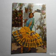 Postales: POSTAL BAILARINA FLAMENCA -TRAJE DE TELA Y BORDADO CM. Lote 182312881