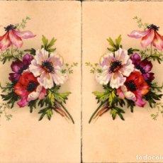 Postales: TARJETA POSTAL ANTIGÜA: FLORES, MOTIVOS FLORALES. (LOTE DE 2 INVERTIDAS).. Lote 182376303