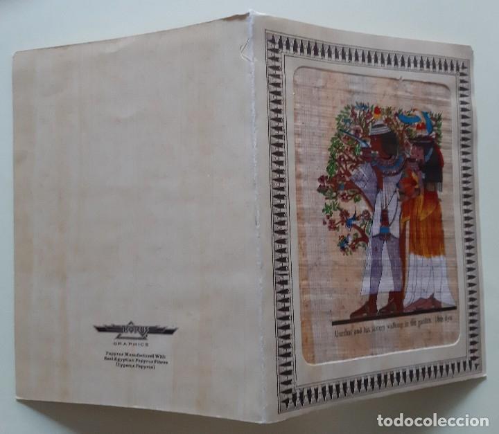 Postales: EGIPTO - 2 POSTALES EN PAPIRO CON JEROGLÍFICOS EGIPCIOS - FELICES FIESTAS - Foto 5 - 182747841