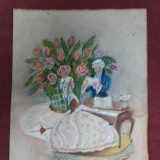 Postales: POSTAL CON PARTES PINTADA EN PAPEL PLASTICO..... Lote 182916315