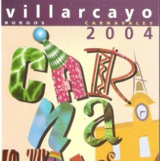 Postales: POSTAL AYTO. VILLARCAYO - CARNAVAL 2004. Lote 182975492