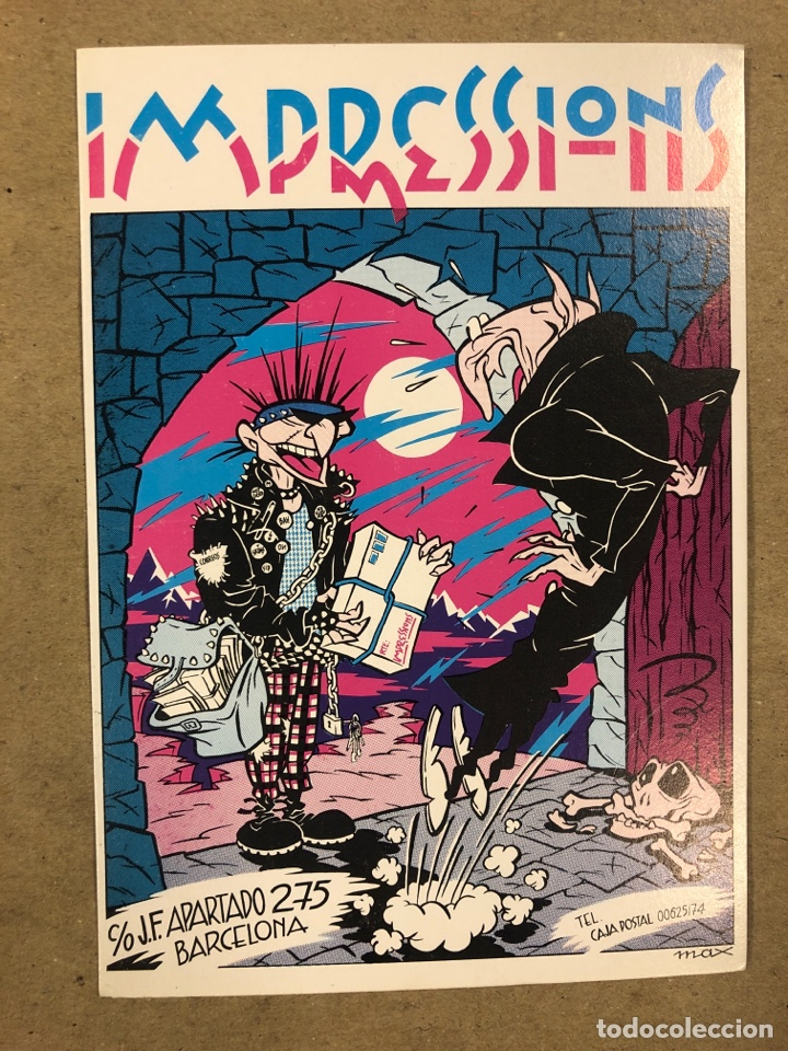 IMPRESSIONS (BARCELONA) POR MAX. POSTAL SIN CIRCULAR PROMOCIONAL DE 1984. (Postales - Varios)