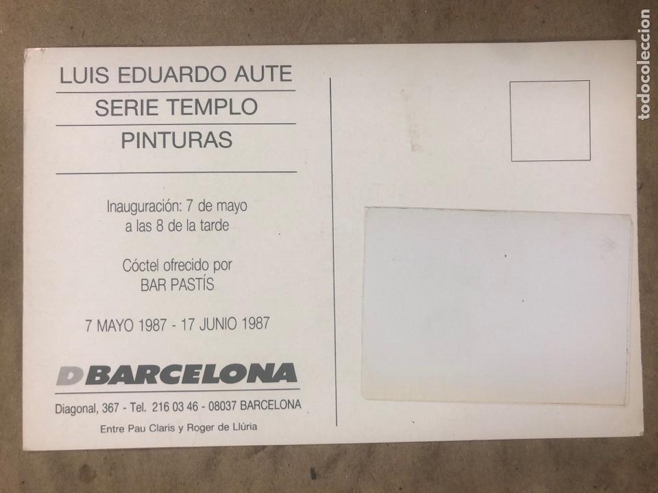 Postales: LUIS EDUARDO AUTE, SERIE TEMPLO (PINTURAS). POSTAL CIRCULADA PROMOCIONAL EXPOSICIÓN 1987 (BARCELONA) - Foto 2 - 183003748