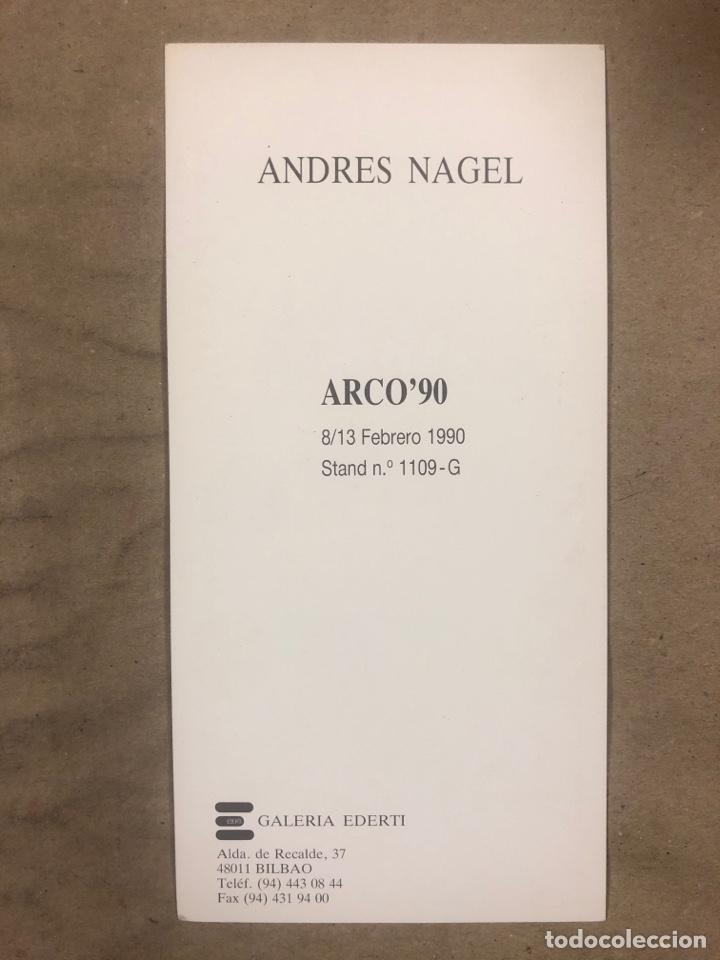Postales: ANDRÉS NAGEL, ARCO '90. TARJETA PROMOCIONAL DEL ARTISTA EN LA FERIA ARCO DE 1990. - Foto 2 - 183006891