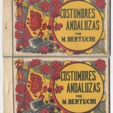 Postales: 2 CARNETS - JUAN BARGUÑÓ / COSTUMBRES ANDALUZAS POR M. BERTUCHI. Lote 183477773
