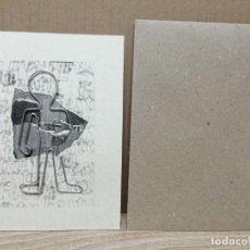 Postales: POSTAL PAPEL TECICJLADO CON MUÑECO DE ALMBRE . Lote 183631390