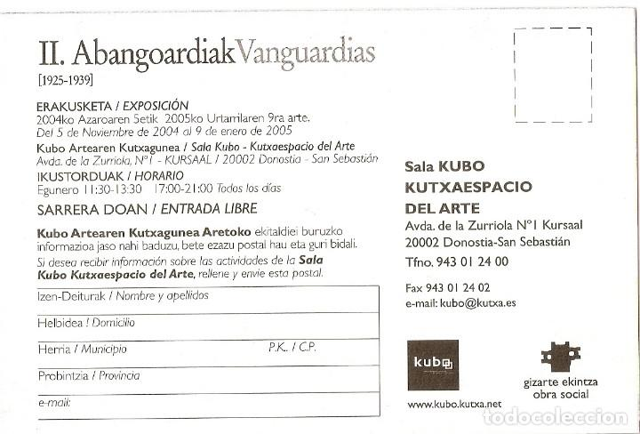 Postales: POSTAL SALA KUBO KUTXAESPACIO DEL ARTE - VANGUARDIAS - Foto 2 - 183709205