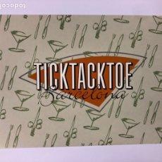 Postales: TICKTACKTOE RESTAURANTE BAR BILLAR (BARCELONA). POSTAL SIN CIRCULAR PROMOCIONAL AÑOS 80. Lote 183749360
