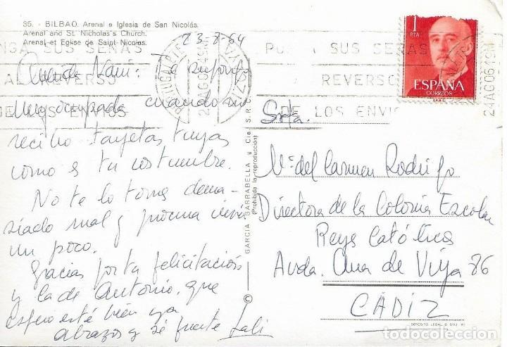 Postales: Postal antigua Bilbao arenal e iglesia de san Nicolás 35 - Foto 2 - 184401097