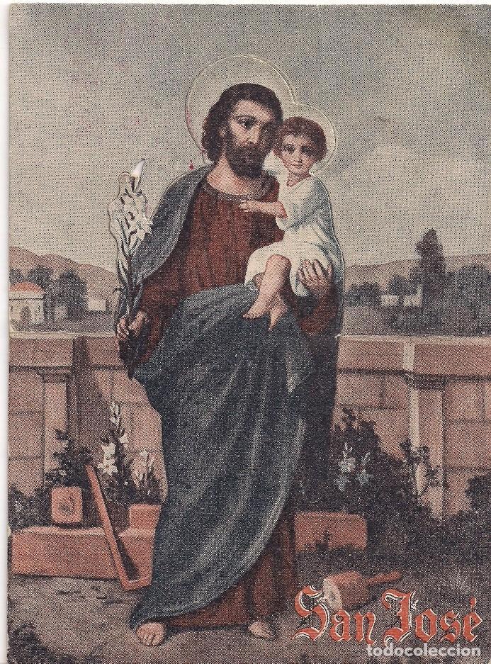Postales: Antigua Tarjeta postal de San José troquelado - Donativo 1 peseta Cruz Roja Española - Foto 3 - 186452773