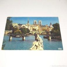 Postales: (AKT.12) POSTAL CIRCULADA N°487 PARIS. PERSPECTIVE VERS L'ILE DE LA CITE ET NOTRE-DAME. Lote 187462350