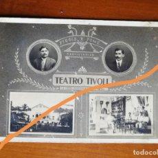 Postales: POSTAL ANTIGUA. TEATRO TÍVOLI. LA CEIBA. HONDURAS. PROPIETARIOS FIGOLS Y TOME.PRINCIPIOS SIGLO XX.. Lote 188799545